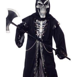 "🎃HP🎃 Kid Crypt Master Grimm Reaper Skull Costume ""Medium"""